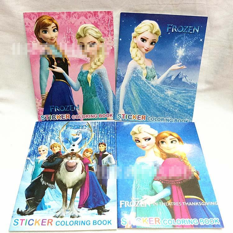 2017 Frozen Children Sticker Coloring Book Kids Painting