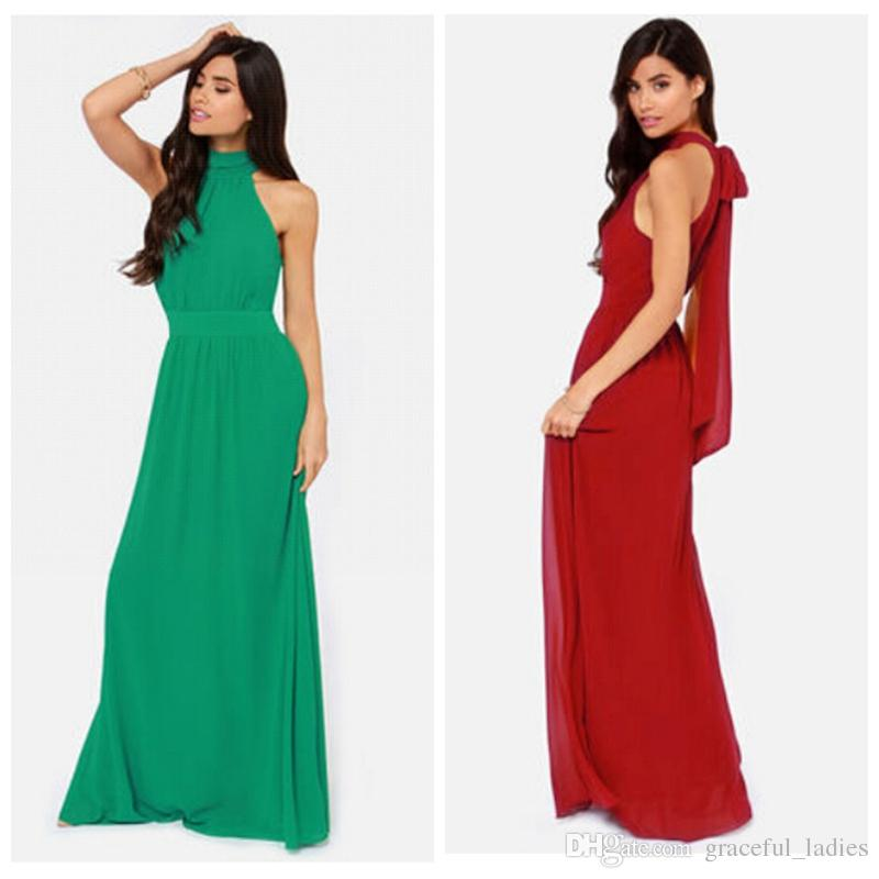 Women Casual Dresses New Fashion Modern Duchess Burgundy Maxi ...