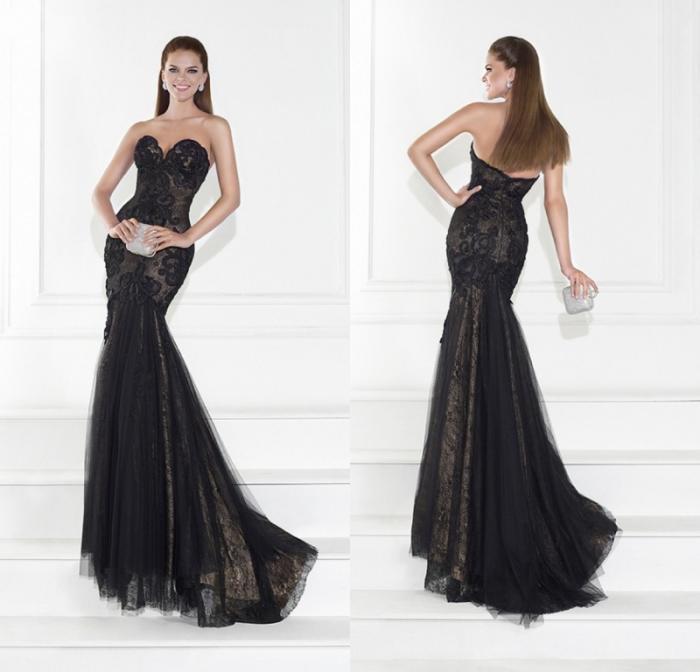 2015 Elegant Evening Dresses Mermaid Sweetheart Sleeveless Sweep ...