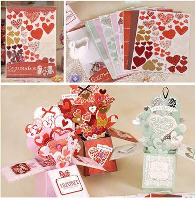 Sweet Valentine Love Pop Up Box CardDiy Handmade Card In A Box Tutorial For Wedding3d Greeting