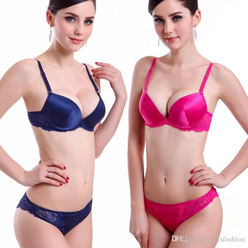 2017 Wholesale Underwear Women Intimates Sexy Bra Brief Set Push ...