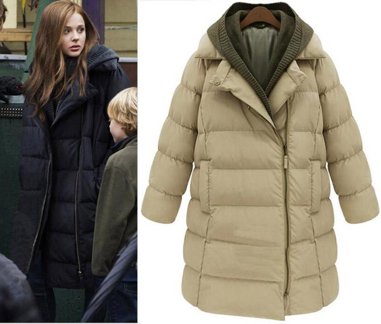 2017 2015 Winter Women Jacket Long Down Coat Hood Parka Coat Cloak