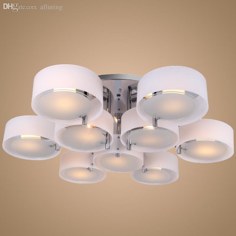 Wholesale-9 Lights Modern Acrylic Chandelier Light Ceiling Living ...