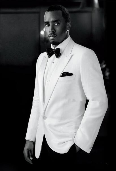 Custom Made 2016 New Arrival Groom Tuxedo White Jacket Black Pants ...