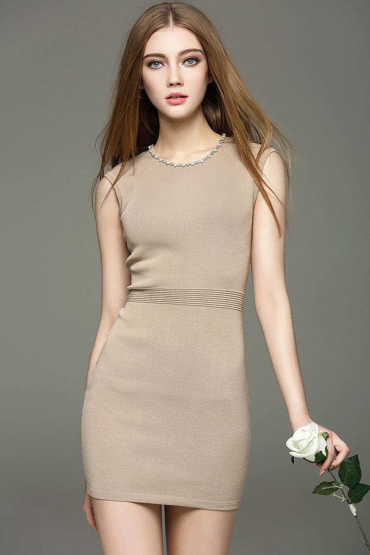 Women Casual Dress Ladies Clothes with Sleeveless And Nice Nail ...