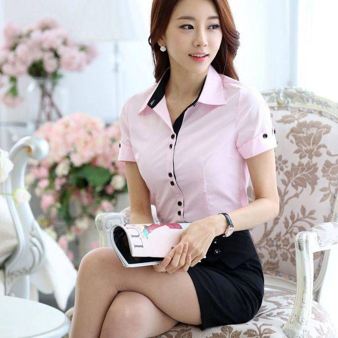 2016 New Fashion Work Shirt Women Business Shirt Formal Office ...