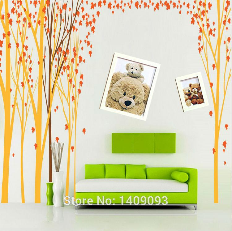 extra large 448 200cm big tree wall sticker home decor big tree with cat and bird wall decal deco art sticker