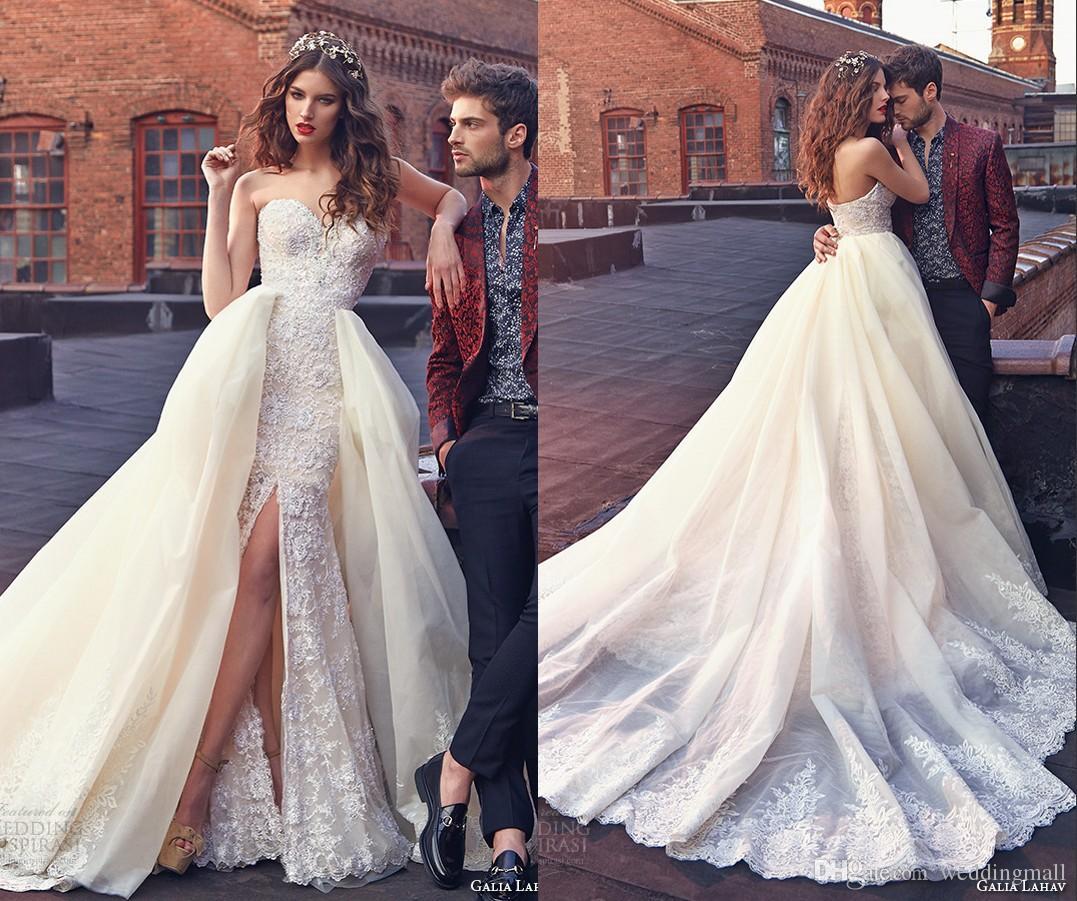 2015 Beaded Lace Mermaid Wedding Dresses Sweetheart Tulle