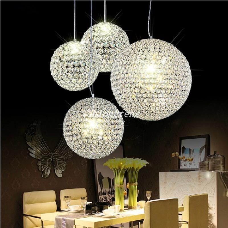 2015 New Crystal Round Ball Chandeliers LED Lighting Indoor
