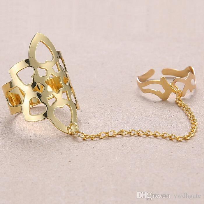 двойные кольца с цепочкой