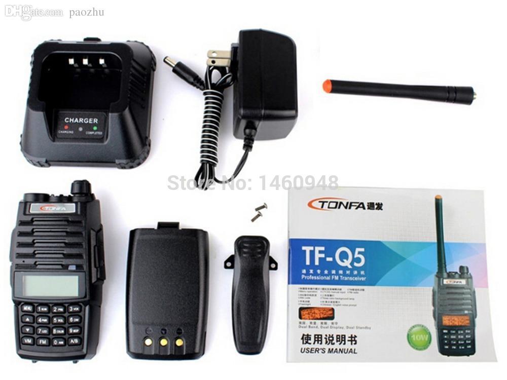 wholesale new black walkie talkie tonfa tf q5 vhf uhf 256. Black Bedroom Furniture Sets. Home Design Ideas