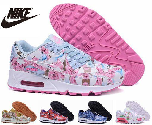 nike air max 2016 womens pink blue flower running shoe