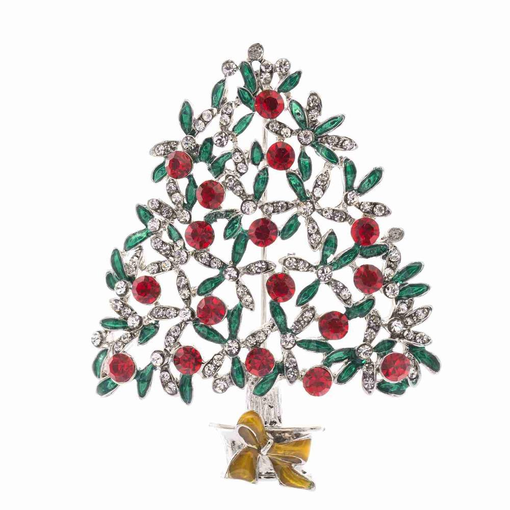Sepjewelry Pretty Christmas Tree Brooches
