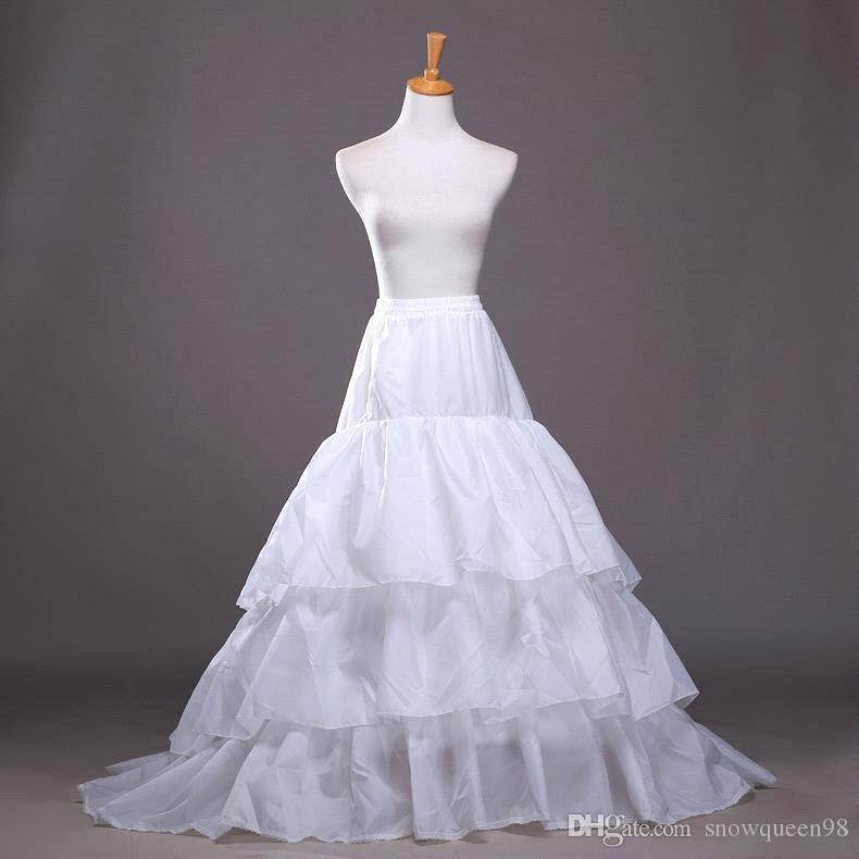 2016 New A Line Plus Size Crinoline Bridal 3 Hoop Petticoats For Wedding Dress Wedding Skirt