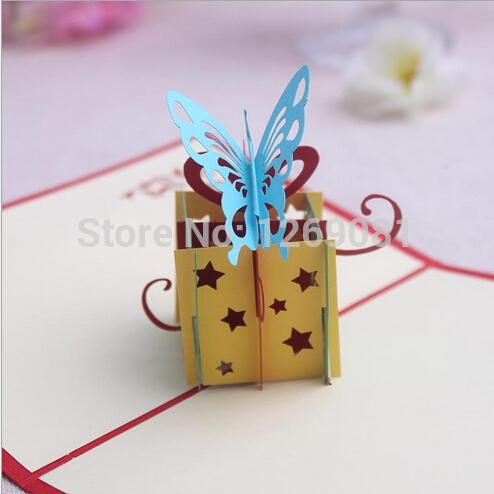 wholesale d popup handmade paper carve gift package box greeting, Greeting card