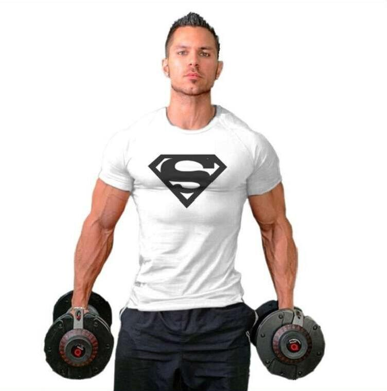 New Style Superman Gym Singlets Mens Tank Tops T Shirt