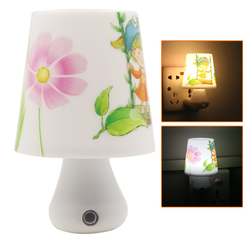 Led night light warm white - 2017 Ndoor Lighting Night Lights Led Night Light Lamp 0 5w Ac220v White Warm White With Remote Control Dimmer Baby Nightlight For Children Bed