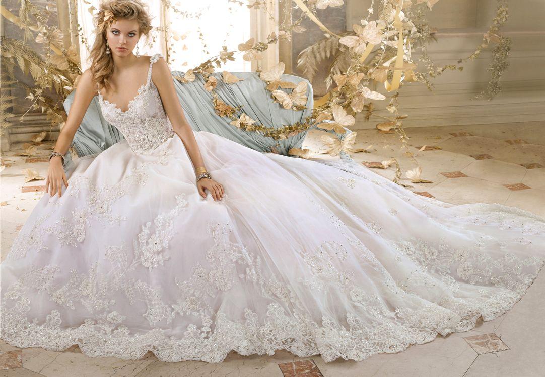 Amalia Carrara 2015 Gorgeous Ball Gown Wedding Dresses V Neck ...