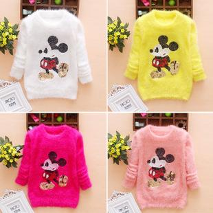 2015 new autumn winter baby toddler girls cartoon mickey mouse sequin sweater children pullovers baby kids sweaters clothes mickey mouse sweater baby girls - Mickey Mouse Online Games For Toddlers