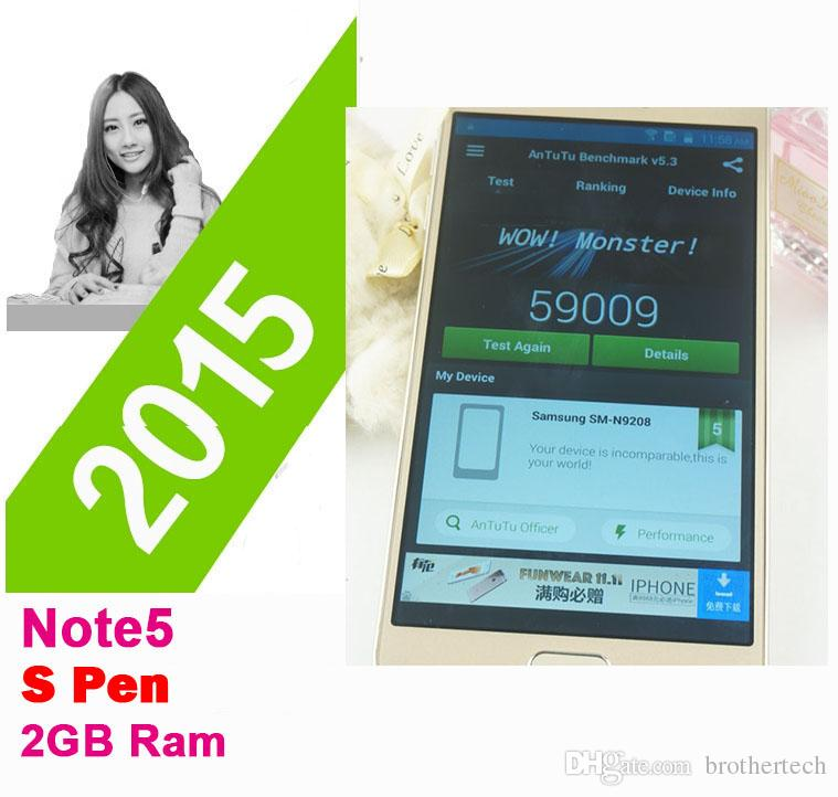 2015 4G LTE 5.7inch Note5 Téléphone N9200 1: 1 MTK6592 Octa Core Android 5.1 Aff