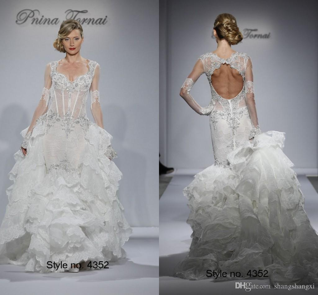 Lace Mermaid Wedding Gowns Inspired By Pnina Tornai 2015