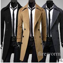 2017 Whole Sale Popular Mens Trench Coats Classic Double Breasted ...