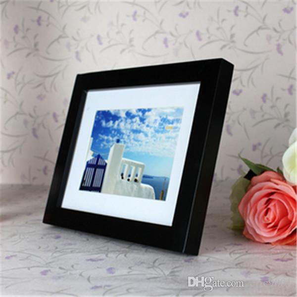 2017 modern art craft 5 inch black wooden photo frame for Craft picture frames bulk