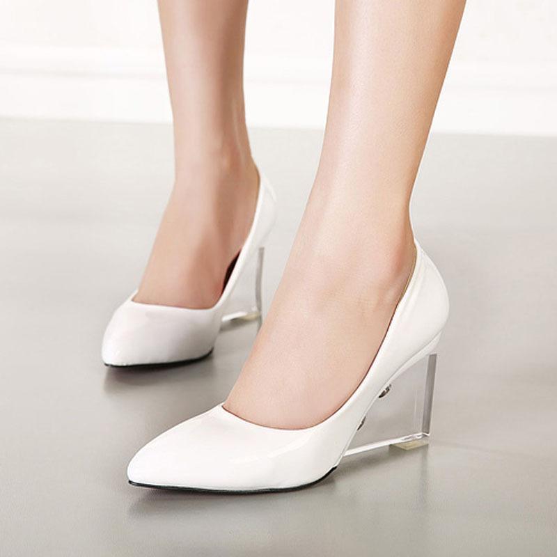 Clear Wedge Heels