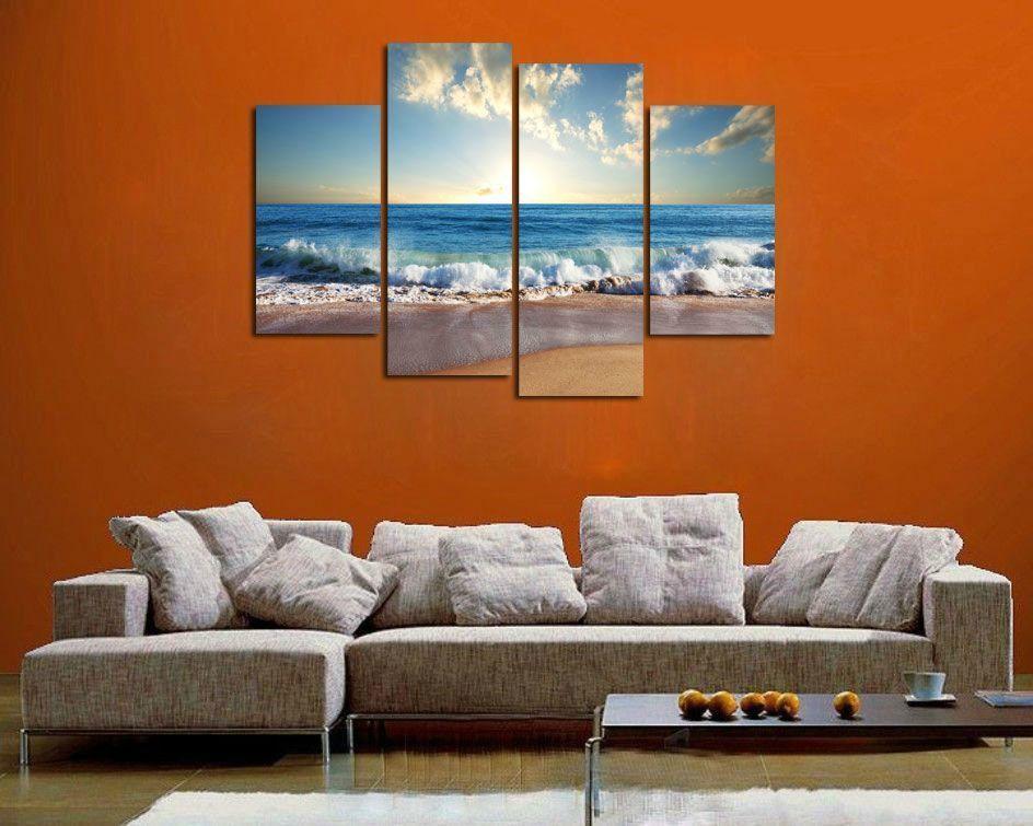 2017 Hd Canvas Print Home Decor Wall Art Painting Beach 02