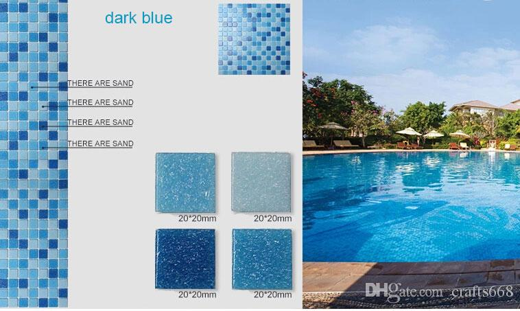 2017 Glass Mosaic Tile For Swimming Pool Tile Blue Color