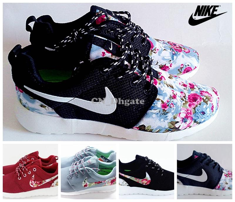 Roshe Printing Shoes Red Clorful Womens Running Trainers Shoes