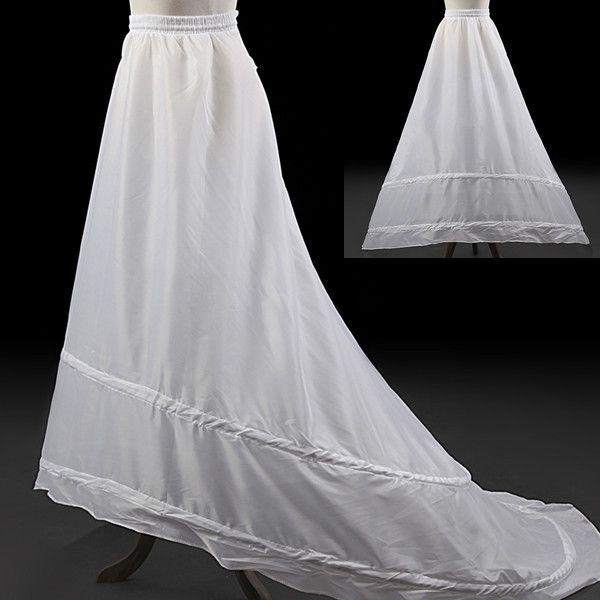 Elegant Simple A Line Wedding Dress Petticoat White Underskirt ...