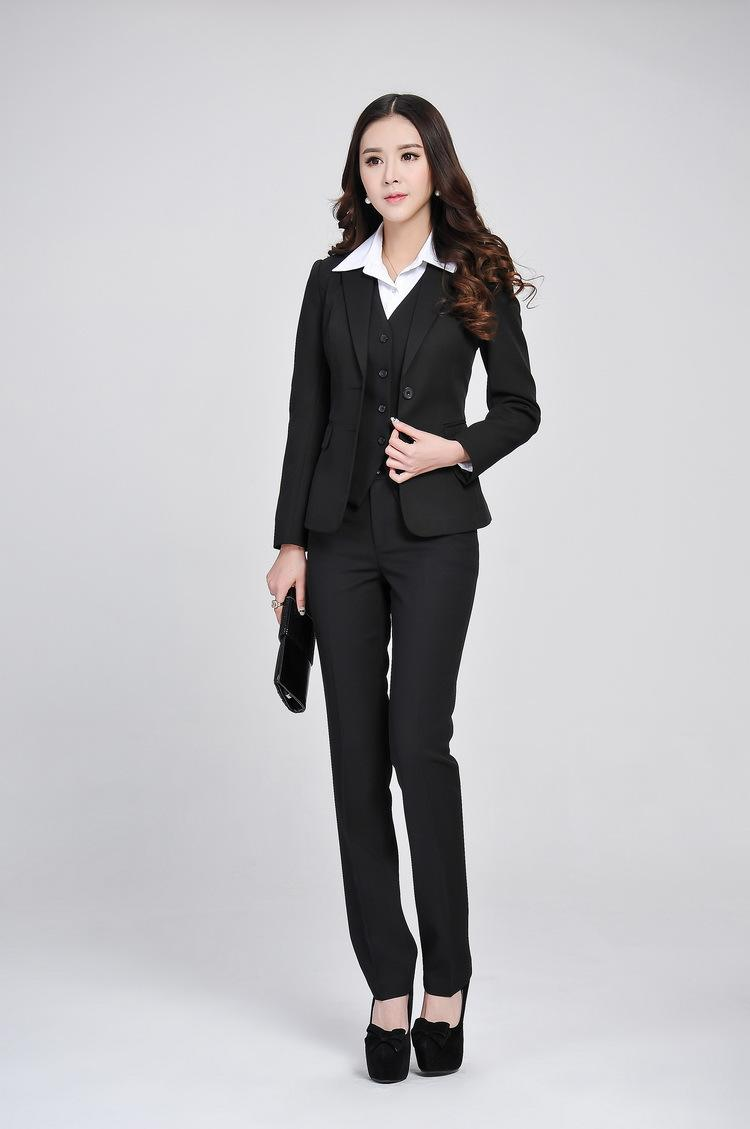 2017 2015 Formal Women Business Suits With Pant   Blazer   Vest ...