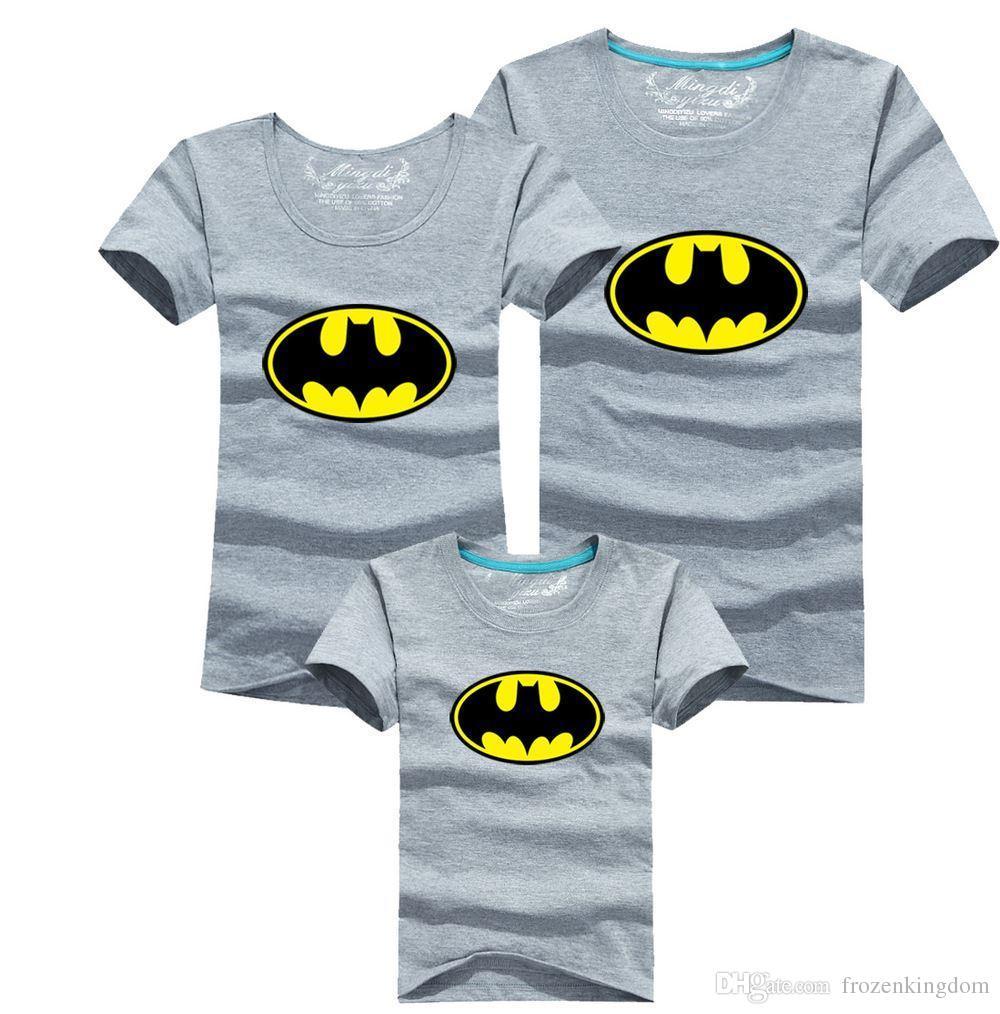 Shirt design images 2017 - Family Fitted Short Sleeved T Shirt Printing Batman Kids Summer Full Home Improvement 100set Lot 1027 27