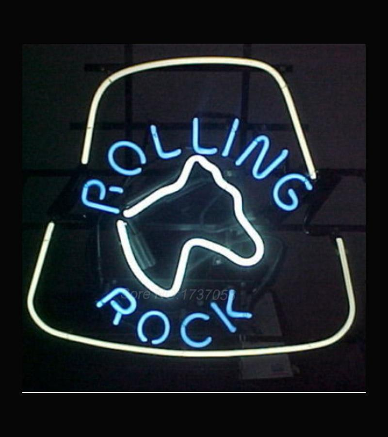 rare rolling rock neon beer sign avize neon signs real glass tube handcraft beer bar sign display neon light sign real glass tube neon beer bar light