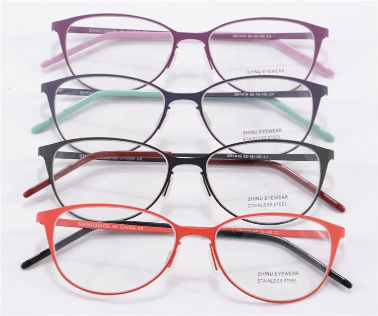 2015 new eye glasses frames for women round metal frame glasses unbreakable rubber paint vintage metal