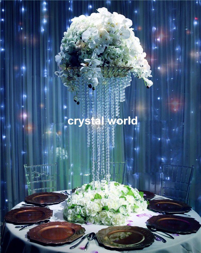 Hot metal sliver tall wedding flower vase stand