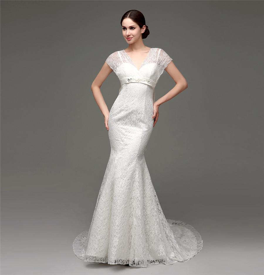 Cheap under 100 lace mermaid brides dresses 2015 in stock for Cheap lace mermaid wedding dresses