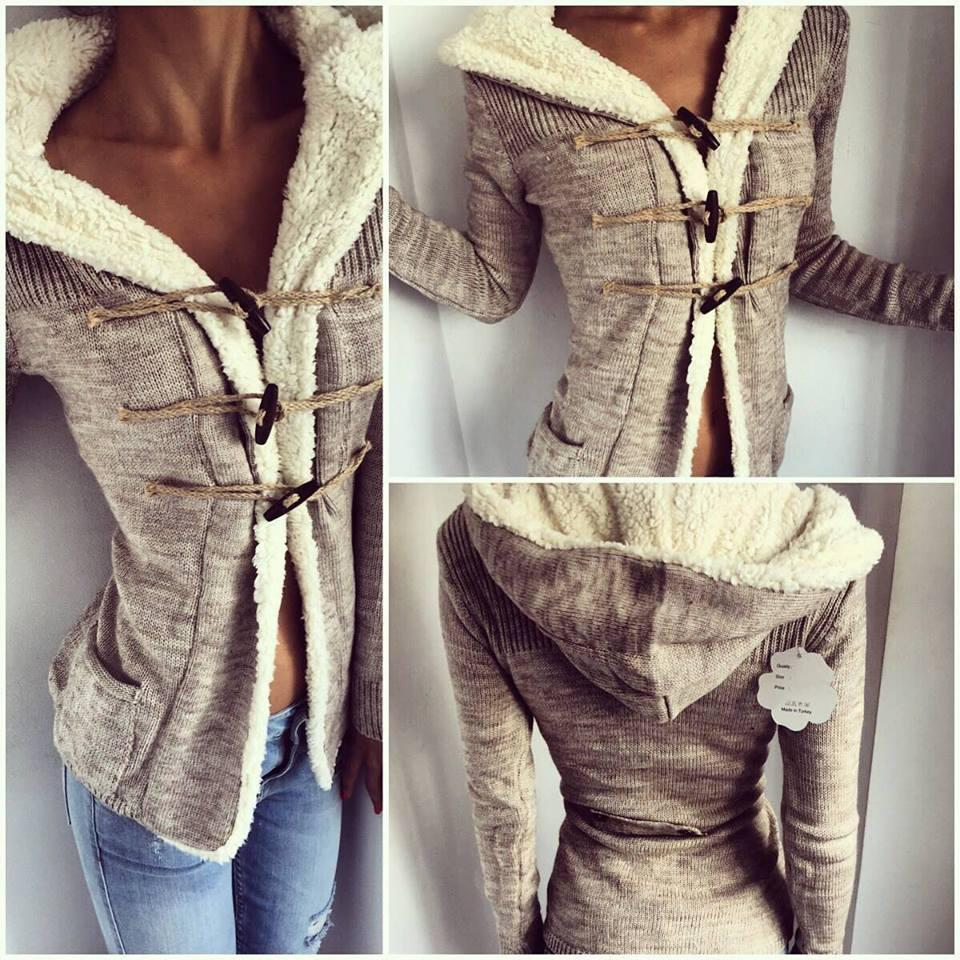 Womens Cardigan Long Sleeve Lamb Wool Warm Sweater Coat Autumn ...