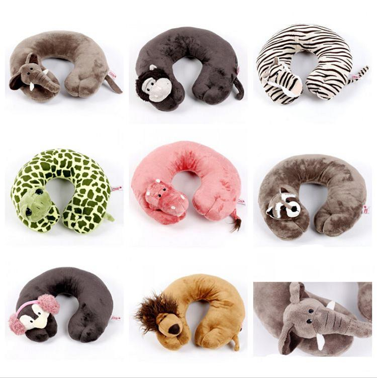 Cute Animal Shaped Pillows : Brand New Plush Animal U Shape Pillow Cute Lions Monkeys Elephants Travel Rest Car Neck Pillow ...