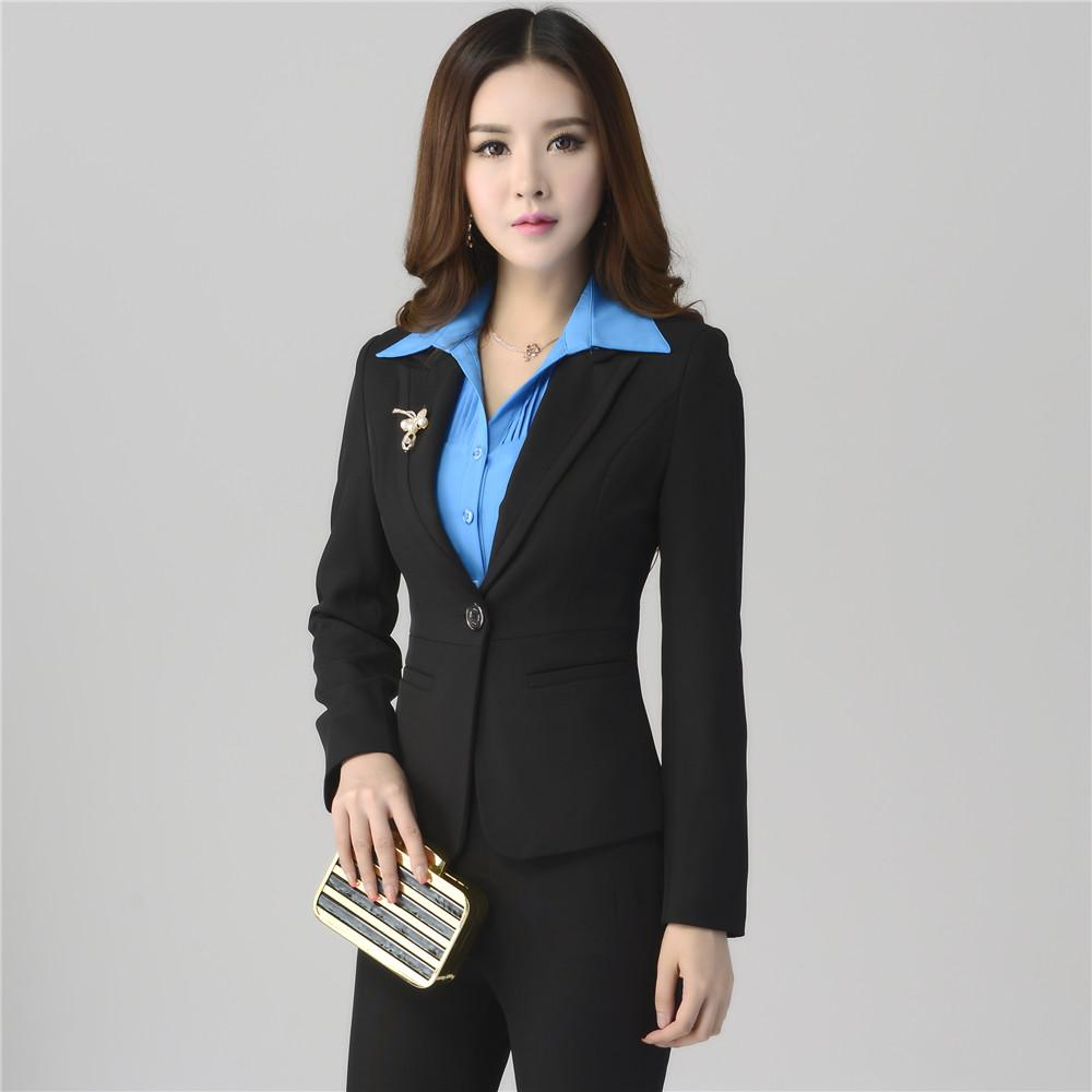 Women's Business Suits Formal Office Pant Suits Female Work Wear ...
