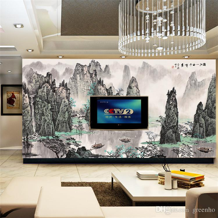 Art Wall Mural Large Size Chinese Landscape Painting Photo