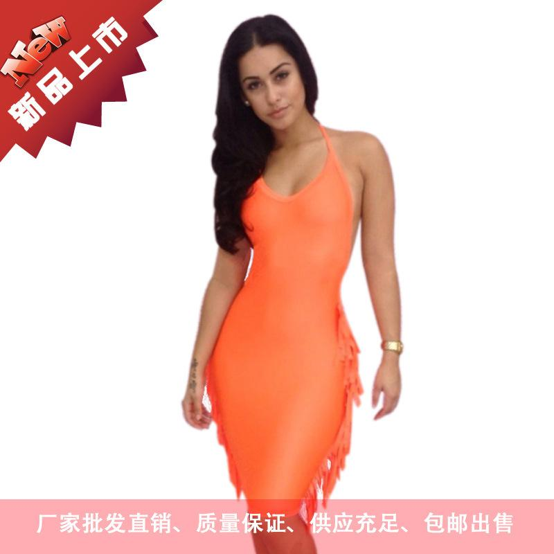 Amazon Sexy Orange Dresses Sexy Skirts Trade Foreign Trade Exposed ...