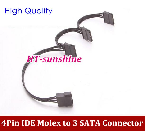 Hard drive sata power supply cable 4pin ide molex to 3 Best online c ide