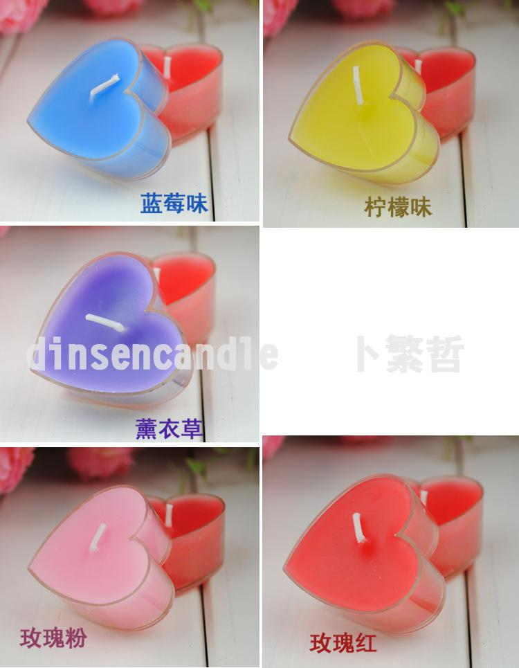Heart Candles Candle Favors Heart-shaped