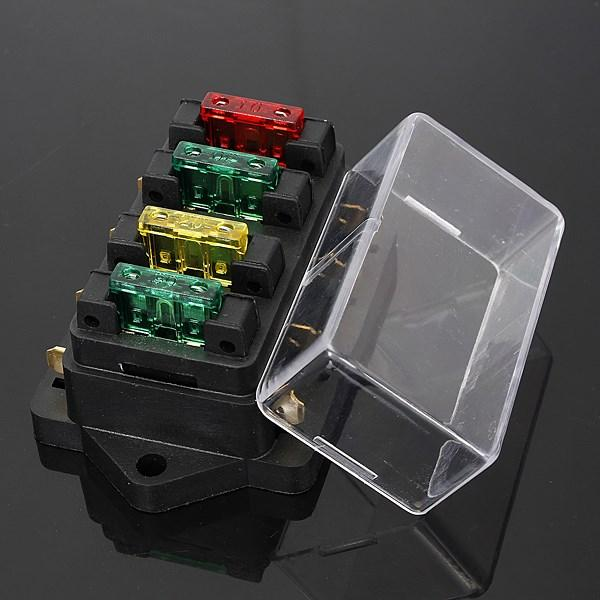 fuse holder box 4 way car vehicle circuit fuse holder box 4 way car vehicle circuit automotive blade fuse 4 way fuse box at crackthecode.co
