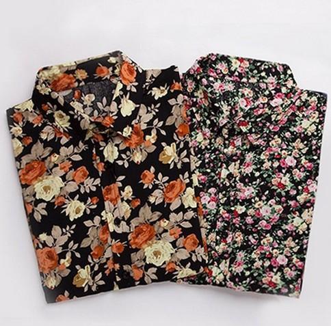 2017 2015 Fashion Explosion Models Floral Print Men Shirt Color ...