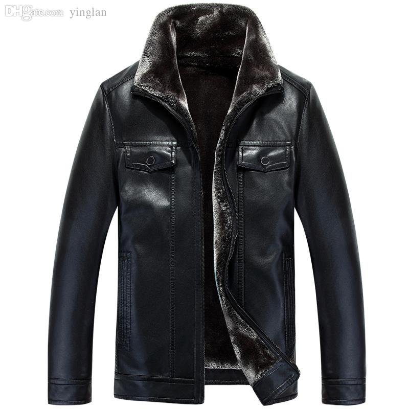 Discount Mens Leather Bomber Jacket Fur | 2017 Mens Leather Bomber ...