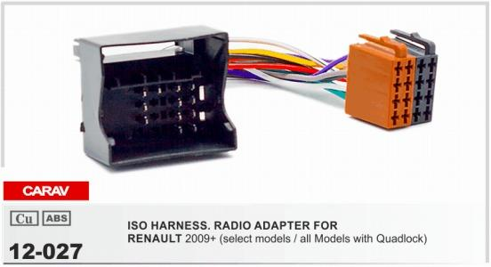 carav 12 027 iso radio adapter for renault carav 12 027 iso radio adapter for renault fluence;megane iii  at n-0.co