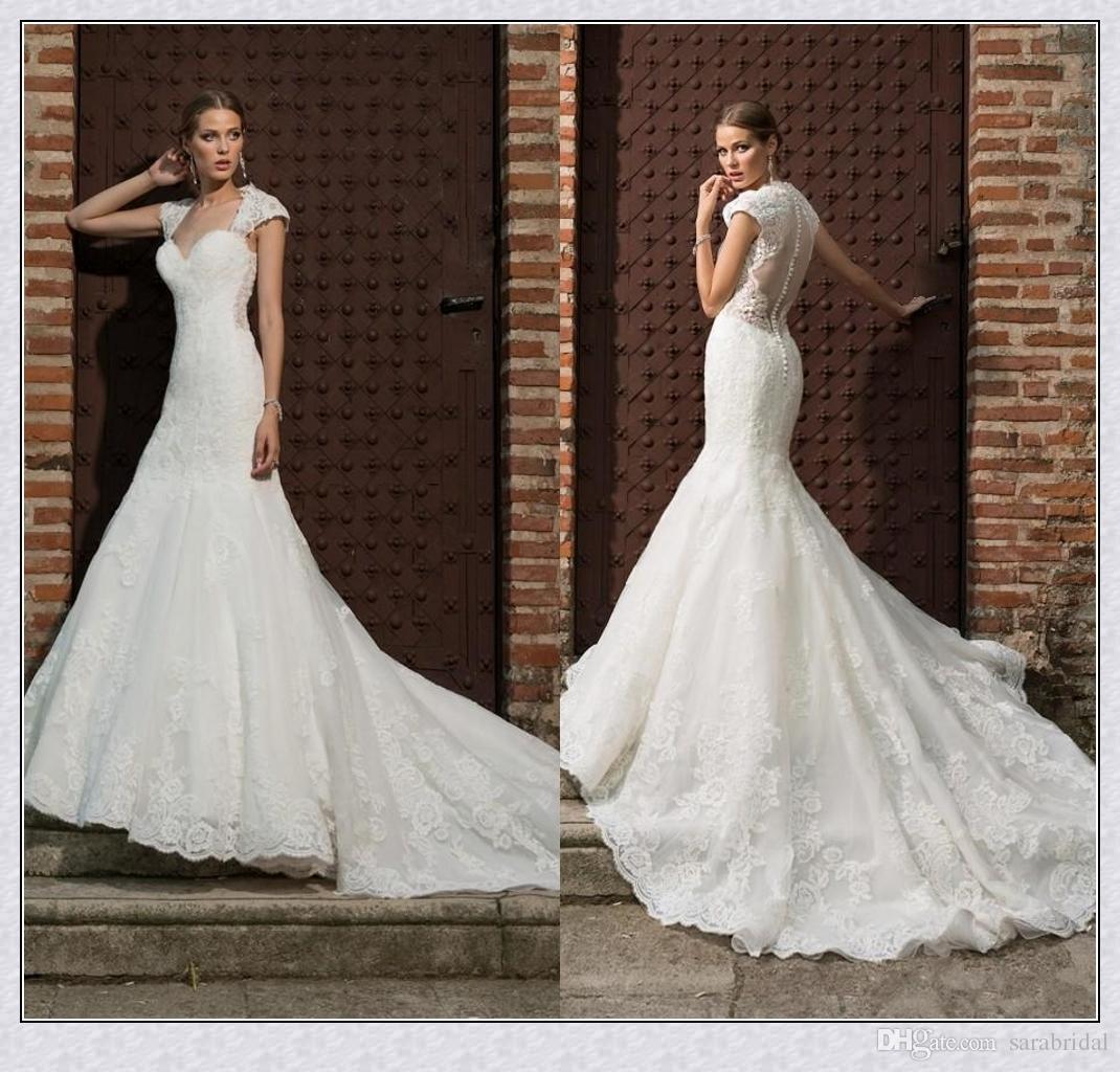 Glamorous Lace Mermaid Wedding Dresses 2016 Quine Anne